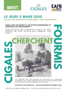 La rencontre avec les Cigales & Entreprendre au Féminin Bretagne